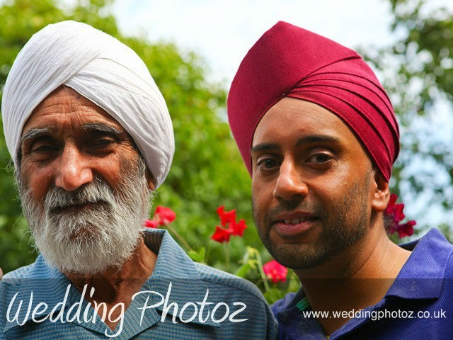 Sikh wedding photography Surinder with his Dad